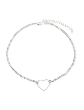 Open Heart Detail Chain Choker by Romwe
