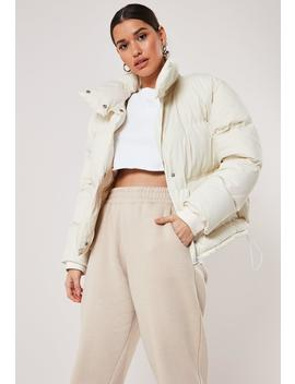 White Puffer Jacket by Missguided