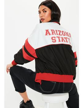 Black Arizona State Padded Sports Parka by Missguided