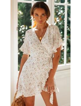 Joanie Dress (White Floral) by Mura Boutique
