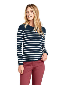 Women's Cashmere Stripe Sweater by Lands' End