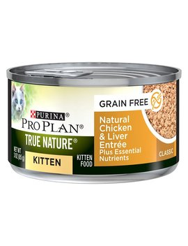 Purina Pro Plan True Nature Natural Chicken & Liver Grain Free Kitten Formula Canned Cat Food, 3 Oz, Case Of 24 by Purina Pro Plan