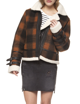 Checkered Plaid Coat by Wanderlust Fashion, Des Moines