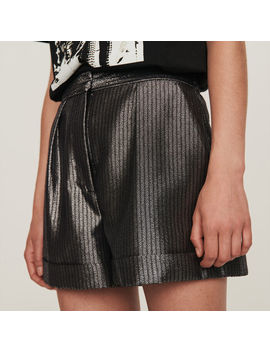 Cuffed Shorts In Lurex by Maje
