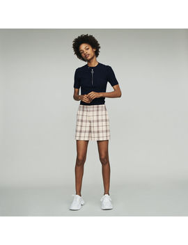 Plaid Shorts by Maje