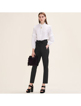 Low Slung Belted Pants by Maje