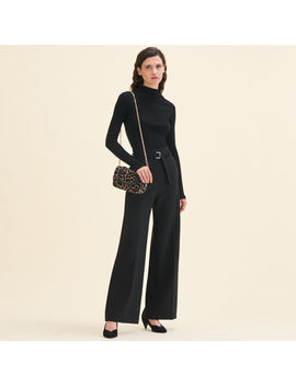 Wide Leg Pants With Belt by Maje