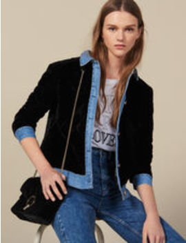 Quilted Velvet Jacket by Sandro Eshop