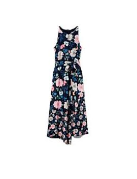 Floral Print Keyhole Dress by Vince Camuto