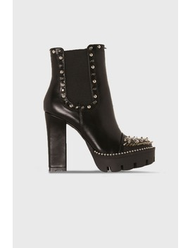 black-studded-platform-ankle-boots by lasula