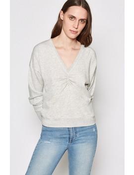 <Span>Warda Cotton Ruched Sweatshirt</Span> by Joie