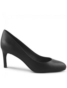 Rachele Black Leather Round Toe Stiletto Heel by Wittner