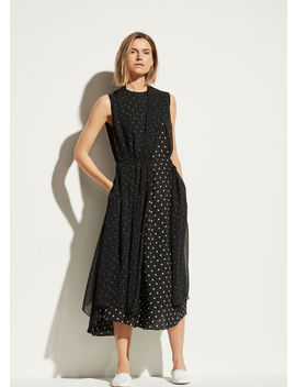 Mixed Dot Dress by Vince