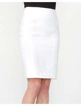 Linen Blend Pencil Skirt by Le Chateau