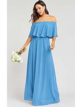 Hacienda Maxi Dress ~ Coastal Blue Chiffon by Show Me Your Mu Mu