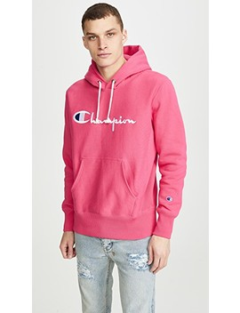 Large Logo Pullover Hoodie by Champion Premium Reverse Weave