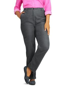 Women's Plus Size 7 Day Elastic Back Corduroy Pants by Lands' End