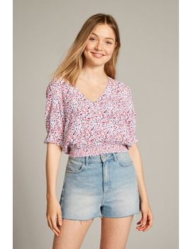 Kerry Shirred Waist Blouse by Jack Wills