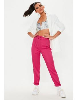 Pantalon Cigarette Rose à Ceinture Tall by Missguided