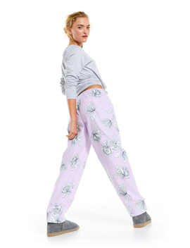 Lilac Floral Flannelette Classic Pj Pant by Peter Alexander