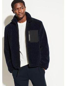 Faux Sherpa Zip Jacket by Vince