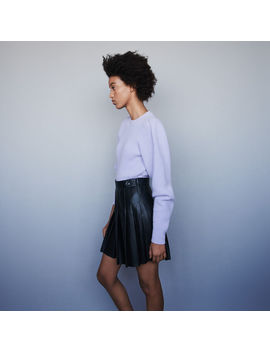 Pleated Leather Skirt by Maje
