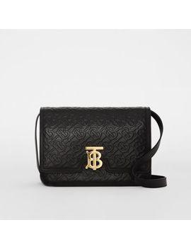 Medium Monogram Leather Tb Bag by Burberry
