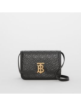 Small Monogram Leather Tb Bag by Burberry