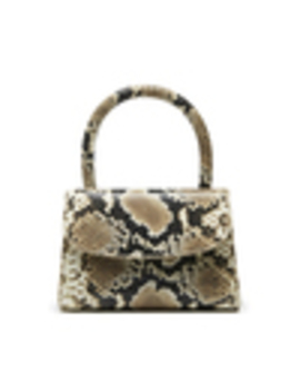 Mini Snake Print Leather Handbag by By Far Shoes
