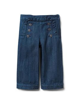 Ruffle Wide Leg Jean by Janie And Jack