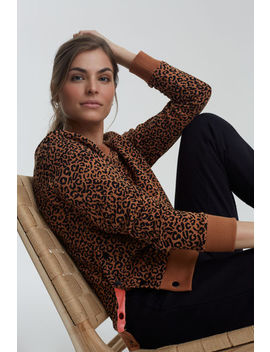 Animal Snap Detail Sweat Top by Long Tall Sally