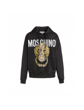 Technical Sweatshirt With Head Lion Handle by Moschino
