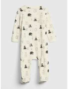 Baby Organic Cotton Print Footed Bodysuit by Gap