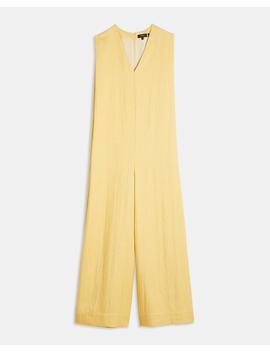 Luxe Linen Straight Romper by Theory