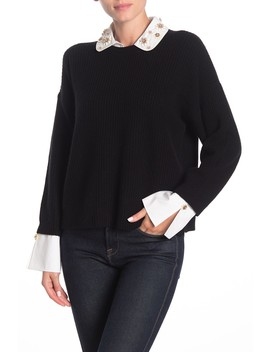 Manami Wool & Cashmere Collared Sweater by Joie