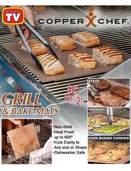 Copper Chef™ Grill & Bake Mats by Lakeside Collection