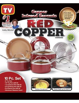 Red Copper™ 10 Pc. Cookware Set by Lakeside Collection