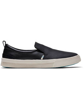 Black Leather Women's Trvl Lite Slip On by Toms