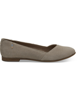 Desert Taupe Suede Women's Julie Flats by Toms