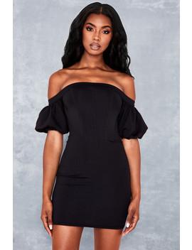 Black Off Shoulder Corset Dress by Mistress Rocks