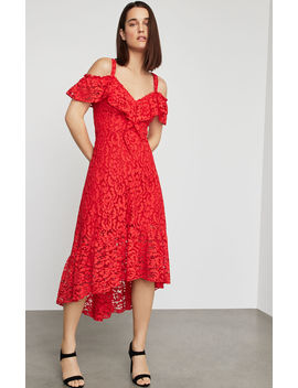 Lace High Low Flared Dress by Bcbgmaxazria