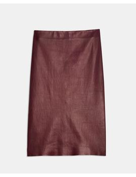 Leather Pencil Skirt by Theory