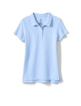 Women's Short Sleeve Feminine Fit Mesh Polo Shirt by Lands' End