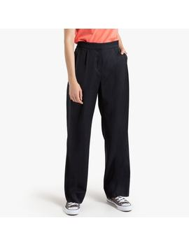 """Wide Leg Wool Mix Trousers, Length 32"""" by La Redoute Collections"""