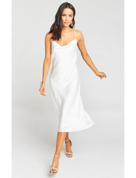 Verona Cowl Dress ~ Ivory Luxe Satin by Show Me Your Mu Mu