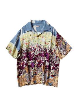 Rayon Navajoland Aloha Shirt   Yellow by Kapital