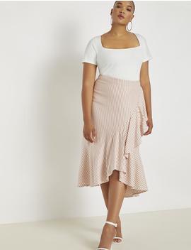 Midi Skirt With Flounce by Eloquii