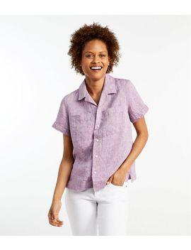 Premium Washable Linen Camp Shirt, Short Sleeve by L.L.Bean