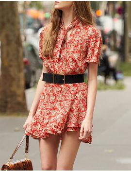 Short Sleeved Printed Dress by Sandro Paris