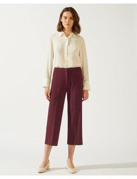 Modern Crepe Crop Straight Trouser by Jigsaw